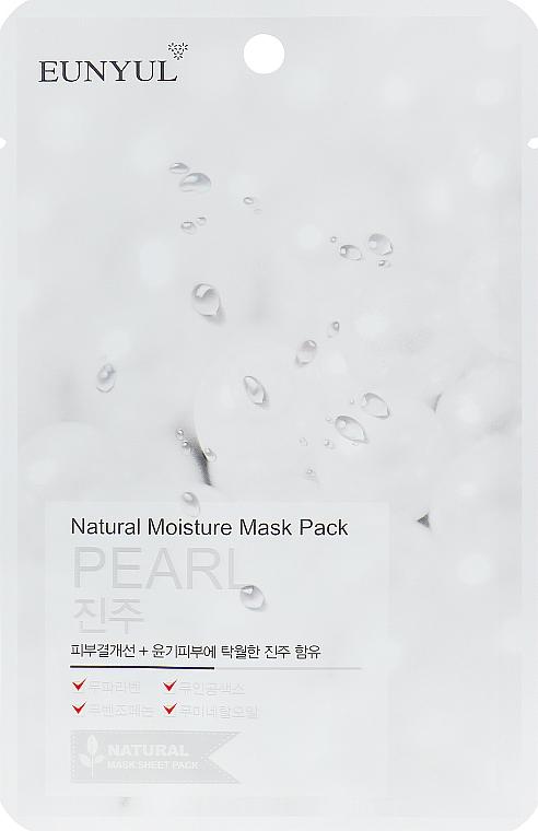 Regenerierende Tuchmaske mit Seidenextrakt - Eunyul Natural Moisture Mask Pack-Pearl