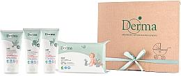 Düfte, Parfümerie und Kosmetik Körperpflegeset für Babys - Derma Eco Baby (Körpercreme 100ml + Salbe 100ml + Shampoo 150ml + Feuchttücher 64St.)