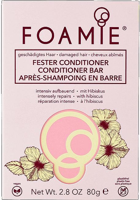 Intensiv aufbauender fester Conditioner mit Hibiskus für geschädigtes Haar - Foamie Hibiskiss Conditioner Bar — Bild N1