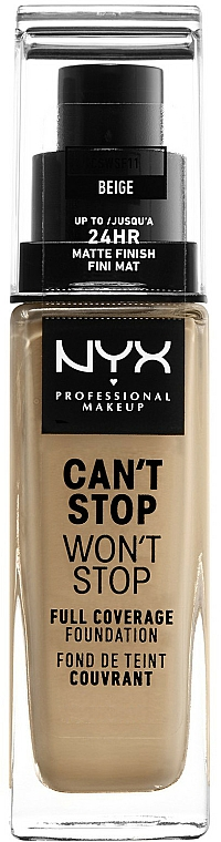 Foundation - NYX Professional Makeup Can't Stop Won't Stop Full Coverage Foundation