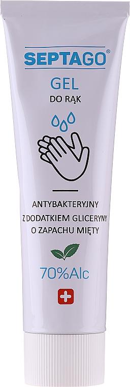 Antibakterielles Handreinigungsgel mit Minzduft - Septago Gel