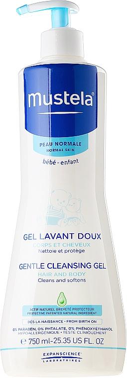 Mildes und aufweichendes Haar- und Körperwaschgel für Kinder und Babys - Mustela Dermo-Cleansing — Bild N1