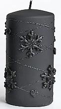 Düfte, Parfümerie und Kosmetik Dekorative Kerze schwarz 7x14 cm - Artman Snowflake Application