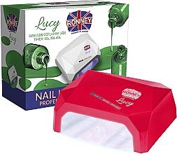 Düfte, Parfümerie und Kosmetik CCFL/LED Lampe für Nageldesign rot - Ronney Profesional Lucy CCFL + LED 38W (GY-LCL-021) Lamp