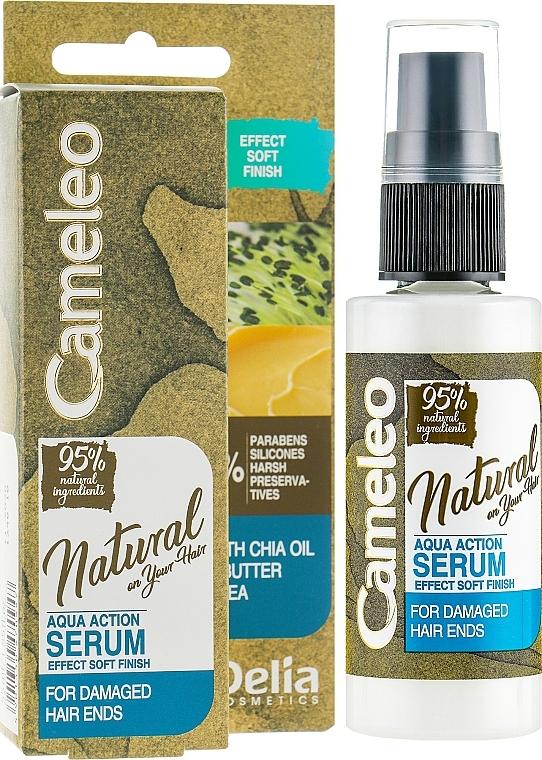 Serum für gespaltene Haarspitzen ohne Ausspülen - Delia Cameleo Natural On Your Hair Aqua Action Serum