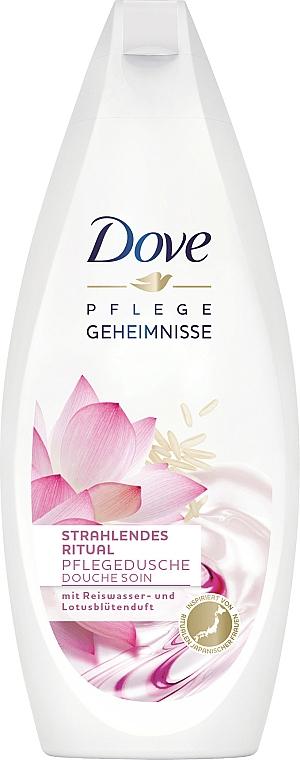 Pflegedusche mit Reiswasser und Lotusblüten Duft - Dove Nourishing Secrets Brightening Shower Gel
