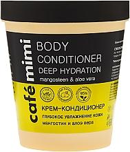 Düfte, Parfümerie und Kosmetik Tief feuchtigkeitsspendender Körpercreme-Conditioner mit Mangostan und Aloe Vera - Cafe Mimi Body Conditioner