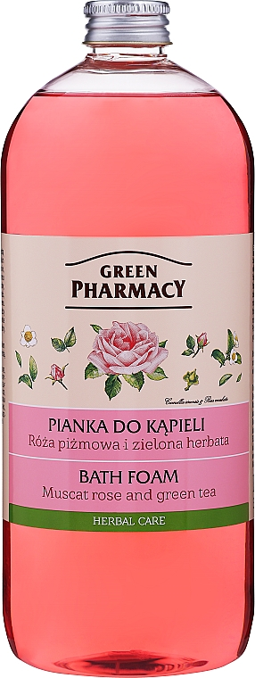 Badeschaum Muscat Rose und grüner Tee - Green Pharmacy — Bild N1