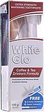 Düfte, Parfümerie und Kosmetik Mundpflegeset - White Glo Coffee & Tea Drinkers Formula Whitening Toothpast (Zahnpasta 100ml + Zahnbürste)