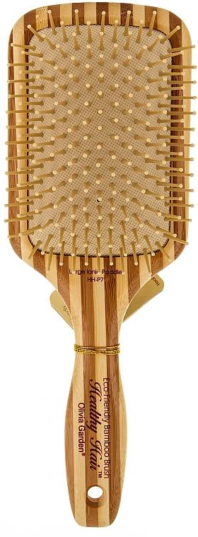 Bambus Paddlebürste für Haar mit Nylonborsten - Olivia Garden Healthy Hair Rectangular Epoxy Eco-Friendly Bamboo Brush