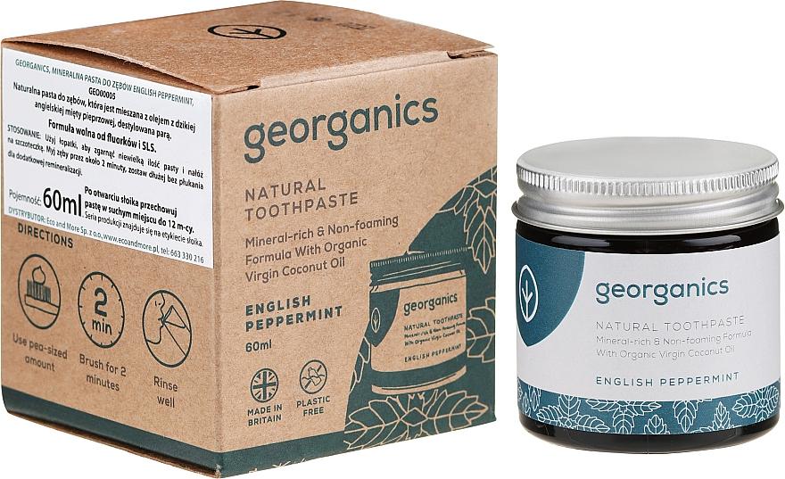 Natürliche Zahnpasta mit englischem Pfefferminzgeschmack - Georganics English Peppermint Natural Toothpaste