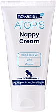 Düfte, Parfümerie und Kosmetik Windelcreme gegen Reizungen und Juckereiz mit Bio Hanfsamenöl, Zink und Kupfer für trockene, empfindliche und zu Atopie neigende Haut - Novaclear Atopis Nappy Cream