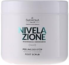Düfte, Parfümerie und Kosmetik Regenerierendes und erfrischendes Fußpeeling - Farmona Professional Nivelazione