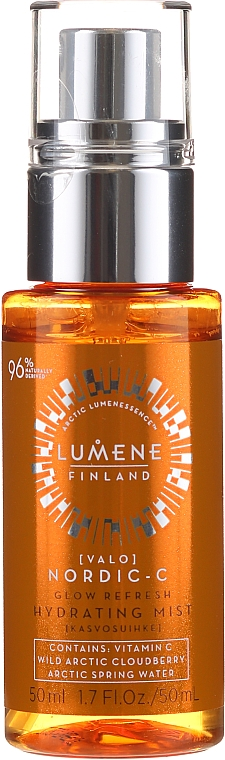 Feuchtigkeitsspendendes Gesichtsspray mit Vitamin C - Lumene Valo Glow Refresh