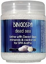 Düfte, Parfümerie und Kosmetik Badesalz mit Mineralien aus dem Toten Meer mit Zedernöl - BingoSpa Brine With Dead Sea Minerals For SPA Baths With Cedar And Baobab Seed Oil