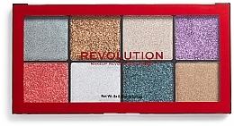 Düfte, Parfümerie und Kosmetik Kompakte Glitter Palette - Makeup Revolution Halloween 2019 Pressed Glitter Palette