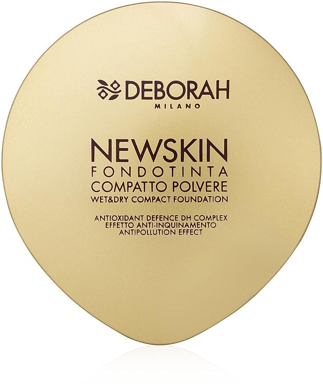 Kompaktpuder im Spiegeletui und Schutz vor Umweltverschmutzung - Deborah New Skin Compact Foundation