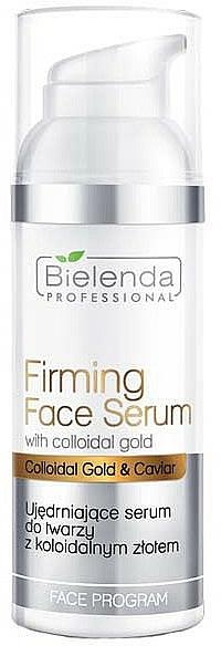 Straffendes Gesichtsserum mit kolloidalem Gold und Kaviar - Bielenda Professional Program Face Firming Face Serum With Colloidal Gold
