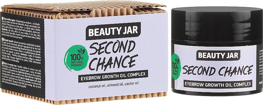 Augenbrauen-Ölkomplex mit Kokosnuss-, Mandel- und Rizinusöl - Beauty Jar Second Chance Eyebrow Growth Oil Complex