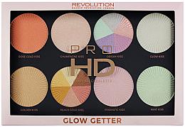 Düfte, Parfümerie und Kosmetik Highlighter-Palette - Makeup Revolution Pro HD Palette Glow Getter