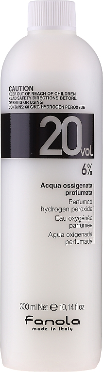 Entwicklerlotion 6% - Fanola Acqua Ossigenata Perfumed Hydrogen Peroxide Hair Oxidant 20vol 6%