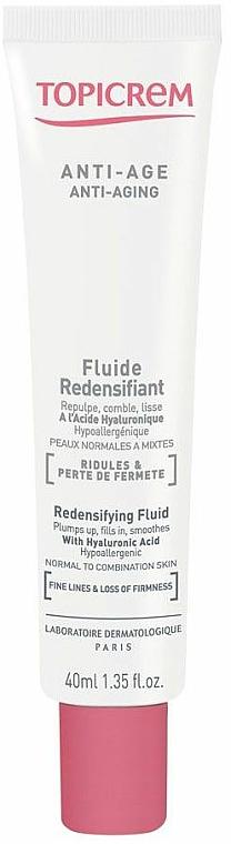 Anti-Aging Gesichtsfluid für Mischhaut mit Hyaluronsäure - Topicrem Anti-Aging Redensifying Fluid