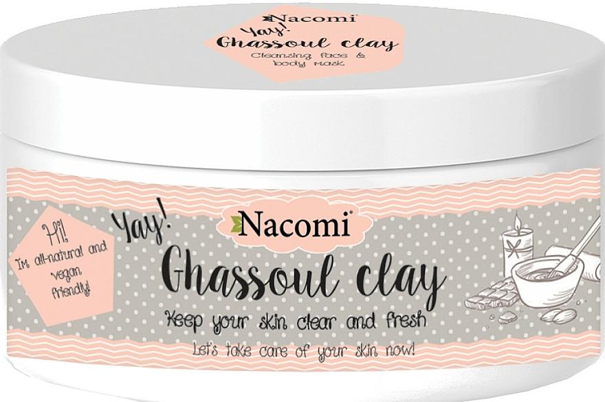 Reinigungsmaske für empfindliche und normale Haut - Nacomi Ghassoul Clay