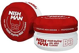 Düfte, Parfümerie und Kosmetik Haarstyling-Gel B3 - Nishman Hair Styling Gel Wax B3 Flaming