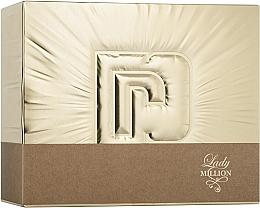 Düfte, Parfümerie und Kosmetik Paco Rabanne Lady Million - Duftset (Eau de Parfum 50ml + Eau de Parfum 10ml + Körperlotion 75ml)