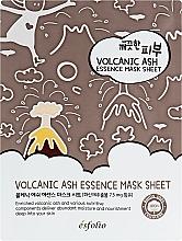 Düfte, Parfümerie und Kosmetik Feuchtigkeitsspendende und porenreinigende Tuchmaske mit Vulkanasche - Esfolio Pure Skin Volcanic Ash Essence Mask Sheet