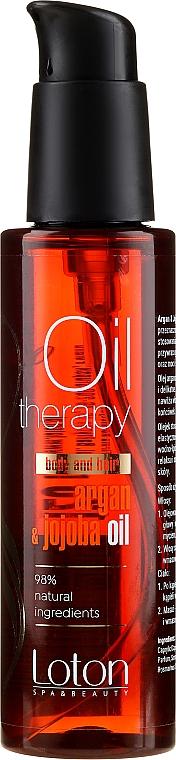Körper- und Haaröl mit Argan und Jojoba - Loton Argan & Jojoba Oil