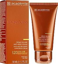 Düfte, Parfümerie und Kosmetik Regenerierende Anti-Aging Sonnenschutzcreme für das Gesicht SPF 20 - Academie Bronzecran Face Age Recovery Sunscreen Cream