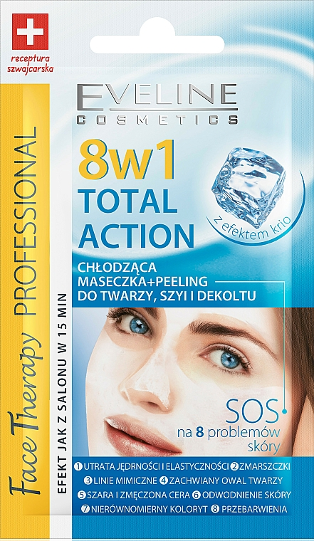 Kühlende Gesichtsmaske + Peeling - Eveline Cosmetics Therapy