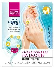Düfte, Parfümerie und Kosmetik Regenerierende und feuchtigkeitsspendende Handmaske mit Papaya-Extrakt 2 St. - Czyste Piękno