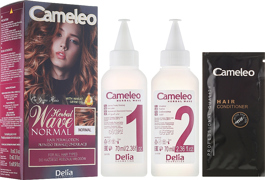 Dauerwell-Lotion für alle Haartypen - Delia Cameleo Herbal Wave
