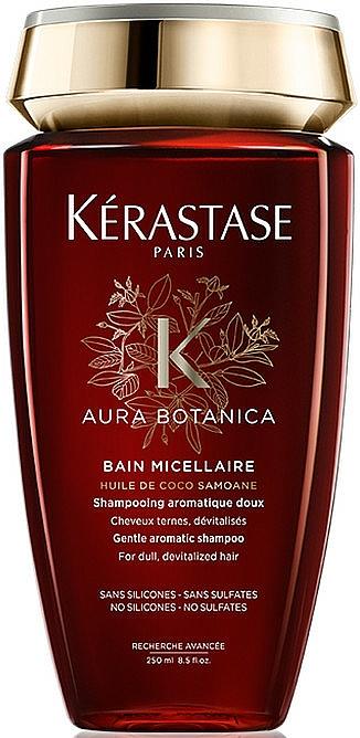 Mizellenshampoo für stumpfes und devitalisiertes Haar mit samoanischem Kokosnussöl und marokkanischem Arganöl - Kerastase Aura Botanica Bain Micellaire Shampoo