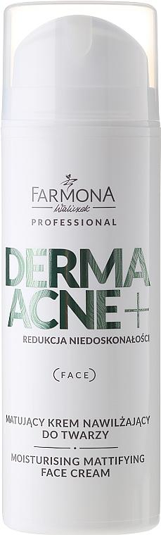 Feuchtigkeitsspendende und mattierende Gesichtscreme mit AHA-Säure - Farmona Professional Dermaacne+ Moisturising Mattifying Face Cream