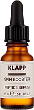 Düfte, Parfümerie und Kosmetik Regenerierender Serum-Booster für das Gesicht mit Peptiden - Klapp Skin Booster Peptide Serum