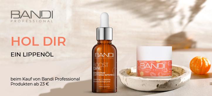 Beim Kauf von Bandi Professional Produkten ab 23 € erhältst Du ein Lippenöl geschenkt