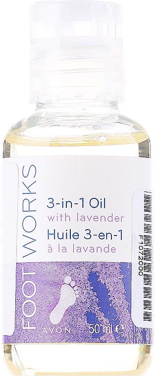 3in1 feuchtigkeitsspendendes Lavendelöl für die Füße - Avon Foot Works 3-in-1 Oil With Lavender
