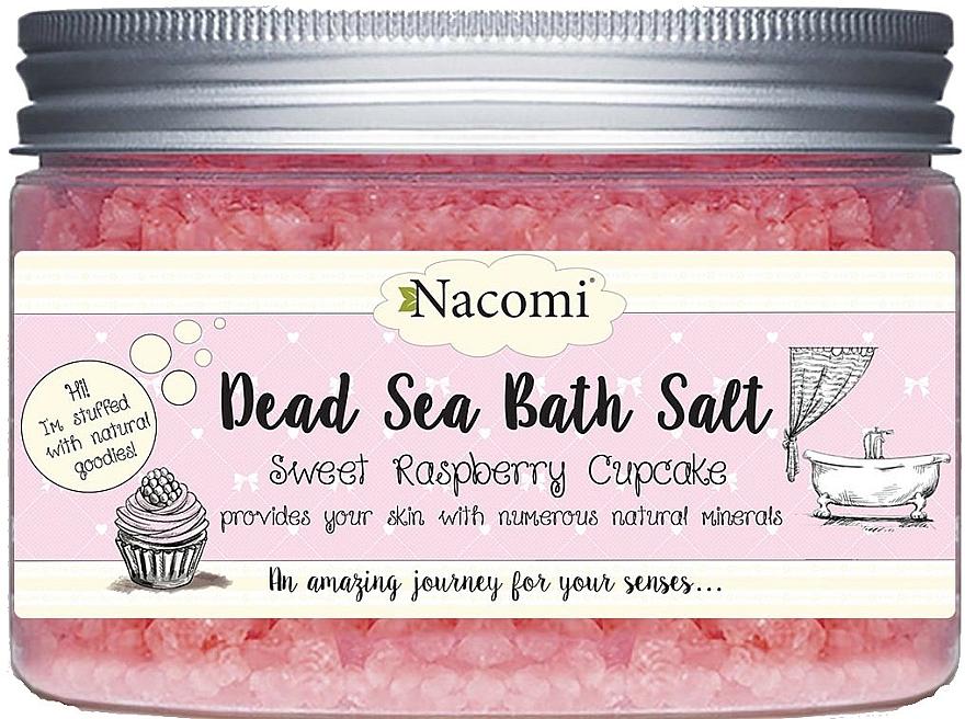 Badesalz aus dem Toten Meer mit Himbeerduft - Nacomi Sweet Raspberry Cupcake Bath Salt