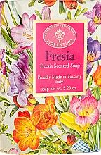 Düfte, Parfümerie und Kosmetik Naturseife mit Freesienduft - Saponificio Artigianale Fiorentino Masaccio Freesia Soap