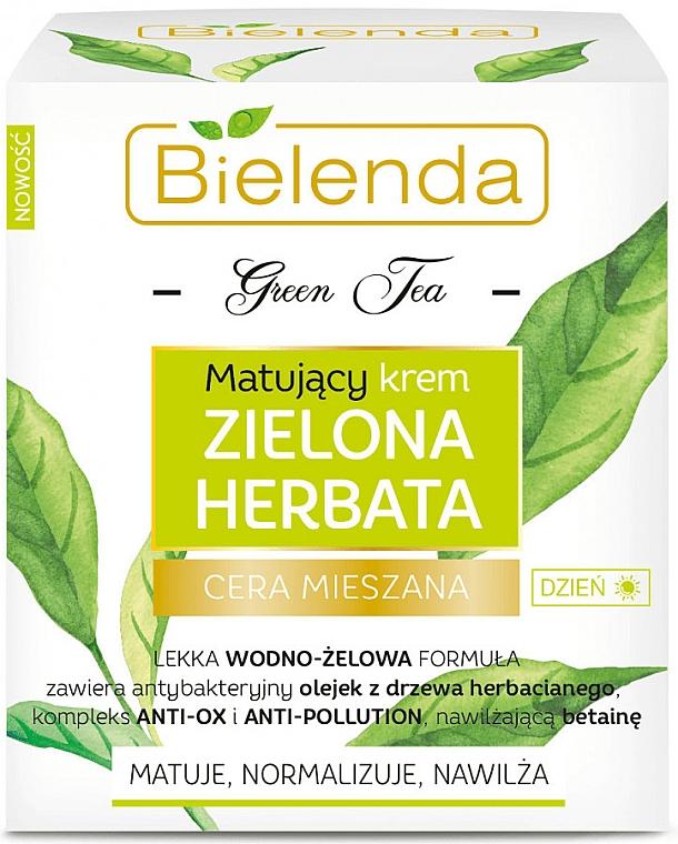Mattierende Tagescreme mit grünem Tee für Mischhaut - Bielenda Green Tea Matifying Day Face Cream — Bild N1