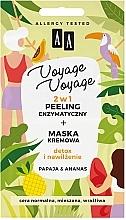 Düfte, Parfümerie und Kosmetik 2in1 Exfolierende Creme-Maske für das Gesicht mit Papaya und Ananas - AA Voyage Voyage 2 In 1