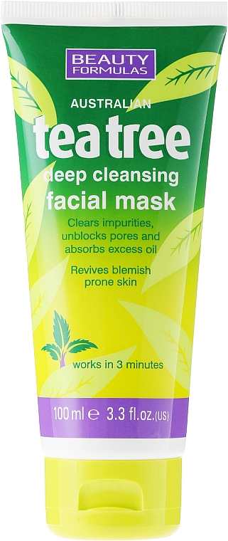 Reinigende Gesichtsmaske mit Teebaum - Beauty Formulas Tea Tree Deep Cleansing Facial Mask