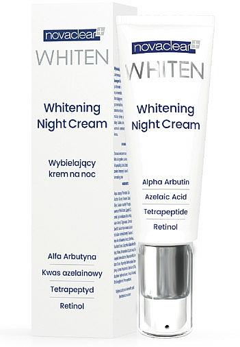 Aufhellende Nachtcreme mit Retinol, Azelainsäure und Tetrapeptiden - Novaclear Whiten Whitening Night Cream