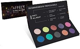 Düfte, Parfümerie und Kosmetik Lidschattenpalette - Affect Cosmetics Party All Night Eyeshadow Palette