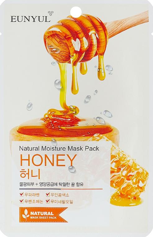 Feuchtigkeitsspendende Tuchmaske für das Gesicht mit Honigextrakt - Eunyul Natural Moisture Mask Pack Honey