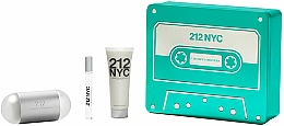 Düfte, Parfümerie und Kosmetik Carolina Herrera 212 NYC - Duftset (Eau de Toilette 100ml + Eau de Toilette 10ml + Körperlotion 75ml)