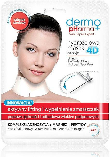 Halsmaske gegen Falten mit Liftingeffekt - Dermo Pharma 4D Lifting & Wrinkles Filling Hydrogel Neck Mask
